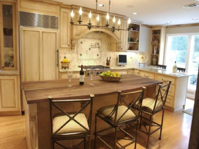 A Boutros Kitchen Project with Hardwood Floors, Granite Counters, and Custom Tile